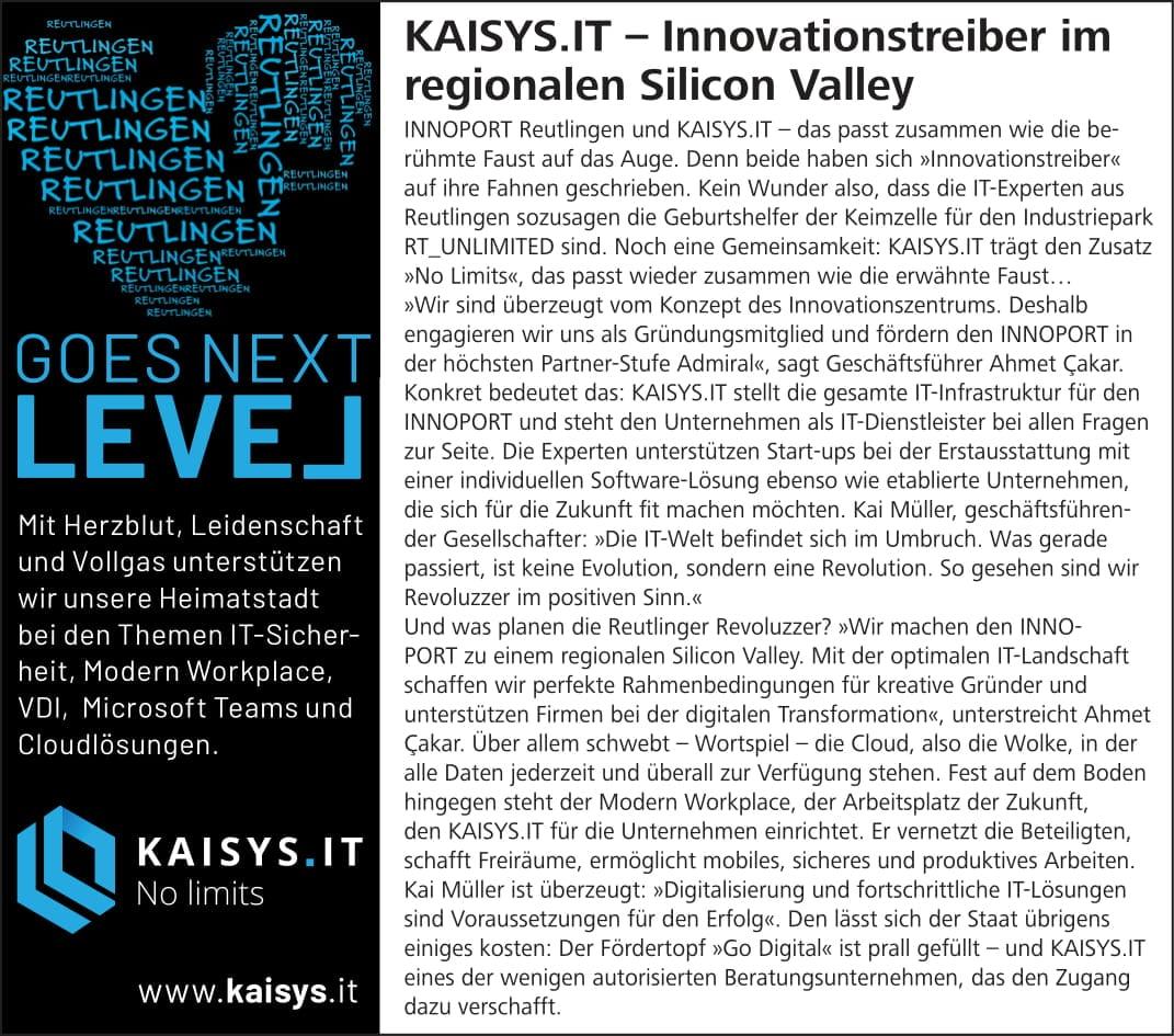 kaisys-it-reutlingen-goes-next-level-innovationstreiber